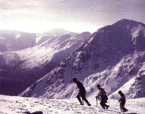 nearing the summit of Buachaille Etive More, 1968